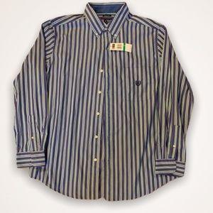 NWT 80s Style Men's Chaps Button Down shirt
